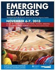 Brochure - Native Nations Institute - University of Arizona