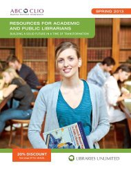 New Professional Resource Titles for Academic and ... - ABC-Clio