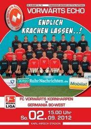 VORWÄRTS ECHO KARL-HIRSCH STADION So.02.09. 2012 FC ...