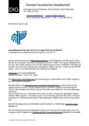 Geschäftsbericht - Deutsch-Israelische Gesellschaft