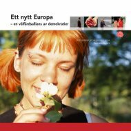 Ett nytt Europa 21x21 - Socialdemokraterna