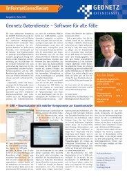Newsletter 08/2013 - Geonetz DatenDienste Bautzen