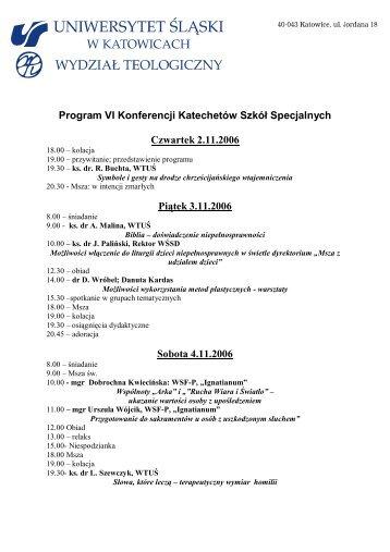 Szczegółowy program