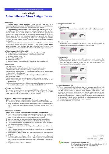 Avian Influenza Virus Antigen Test Kit