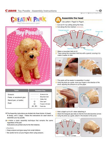 Assemble the head Toy Poodle : Assembly Instructions - tud.ttu.ee