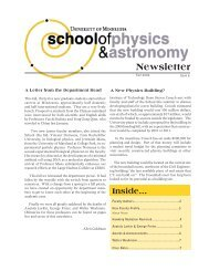 Newsletter - School of Physics and Astronomy - University of ...