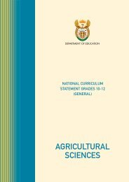 Agricultural Sciences - SchoolNet South Africa