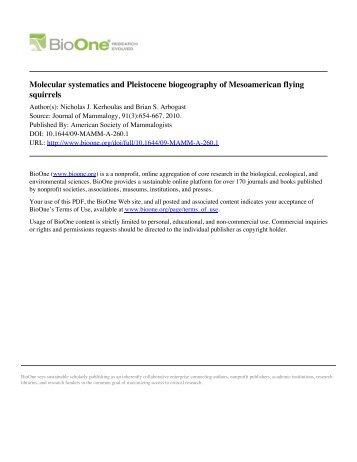 Molecular systematics and Pleistocene biogeography of ...