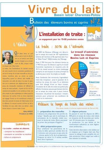 Vivre Du Lait Nâ° 5 - La Chambre D'Agriculture De Charente-Maritime.