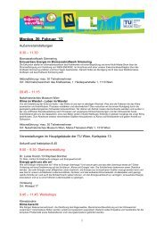 Montag, 20. Februar ´12 - Schools at University for Climate and Energy