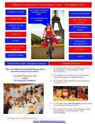 Alliance Française de la Sunshine Coast – November 2012 Newsletter