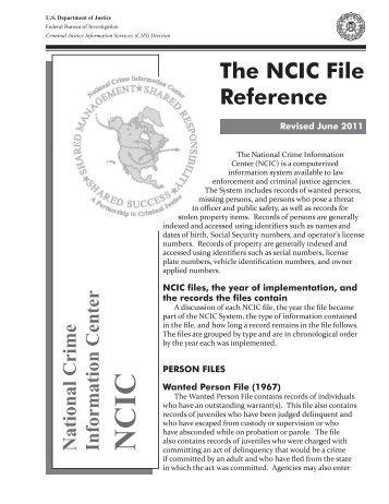 NCIC file ref june 2011.indd