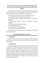 protocolo de actuaciones para la reintroduccion en el medio ... - Fapas