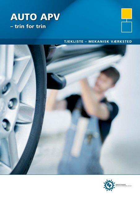 Tjekliste til mekanisk værksted - Industriens Branchearbejdsmiljøråd