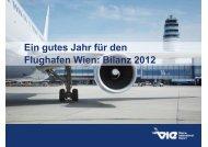 Bilanz 2012 - Flughafen Wien