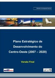 Plano Estratégico de Desenvolvimento do Centro-Oeste (2007 ...
