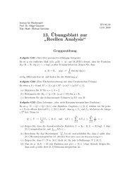 """13.¨Ubungsblatt zur """" Reellen Analysis"""""""