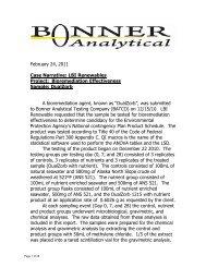 DualZorb - Test de biorremediación