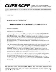 Transgender Day of Remembrance Letter - Canadian Union of ...