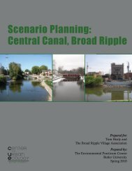 Scenario Planning: Central Canal, Broad Ripple - Ball State University
