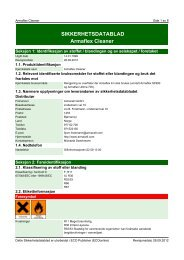 SIKKERHETSDATABLAD Armaflex Cleaner - Armacell