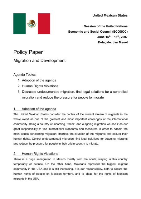 Policy Paper - ViaMUN