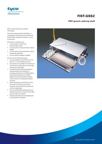 DATASHEET - FIST-GSS2 - FIST generic splicing shelf