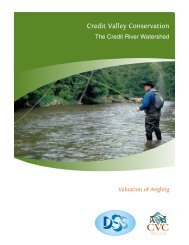 Report – The Credit River Watershed – Valuation of Angling