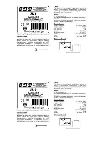 FF ZS-1-6 instrukcja.pdf - F&F