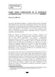 Planes versus Planificación en la Experiencia Latinoamericana