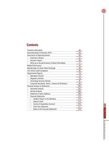 Annual Report 2010 Part-1 - Lahore Stock Exchange