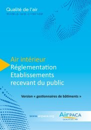 Air intérieur Réglementation Etablissements recevant ... - Atmo Paca