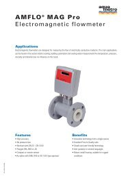 AMFLO® MAG Pro Electromagnetic flowmeter - Sauter Automation AB