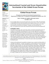 Input to rio+20 compilation document - Global Ocean Forum