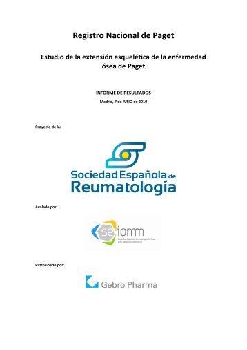 informe de proyecto - Sociedad Española de Reumatología