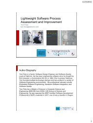 Lightweight software process assessment and improvement - PNSQC