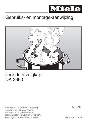 Miele DA3360 inbouw vlakscherm afzuigkap 60 cm ... - Wehkamp.nl