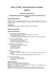 Edital n. 01/2008 – Prefeitura Municipal de Contagem ... - Fundep