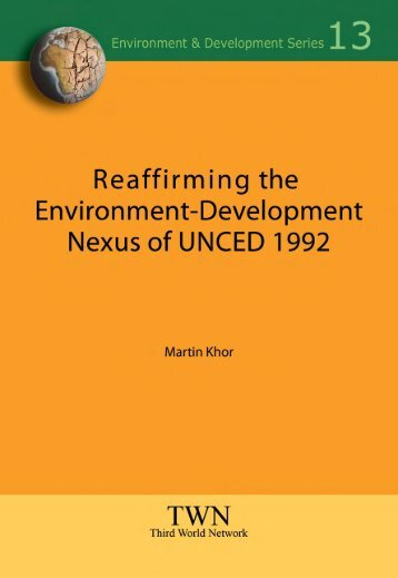 Reaffirming the Environment-Development Nexus of UNCED 1992