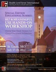 Educational Summit - HL7