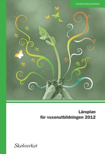 Läroplan för vuxenutbildningen 2012