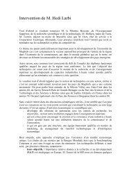 Discours d'ouverture - Euromedina