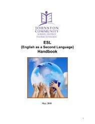 JCSD ELL Handbook - Johnston Community School District