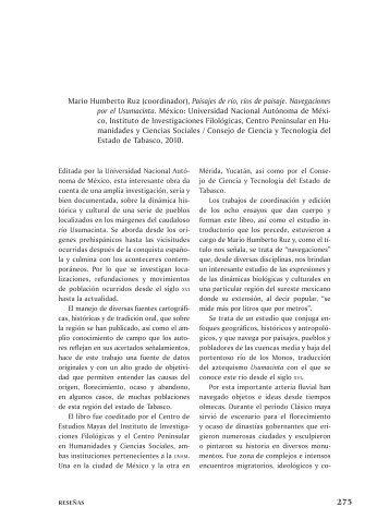 275 Mario Humberto ruz (coordinador), Paisajes de ... - Inicio - UNAM