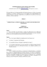 SUPERINTENDENCIA DEL SISTEMA FINANCIERO El ... - Felaban