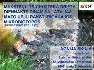 maksteņu trichoptera drifta diennakts dinamika latvijas mazo upju ...
