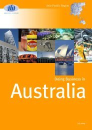 Doing Business in Australia - JHI