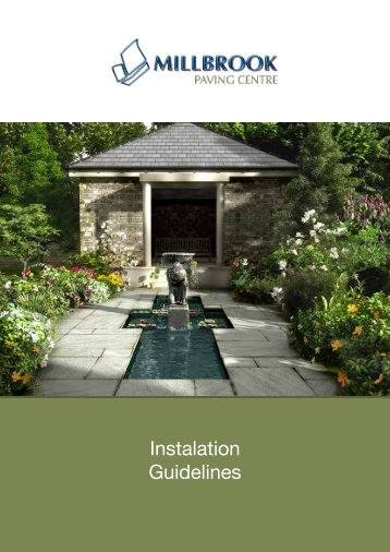 Instalation Guidelines - Paving