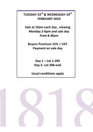 Download Catalogue (pdf) - 1818 Auctioneers