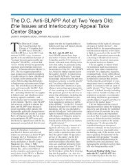 The D.C. Anti-SLAPP Act at Two Years Old: Erie Issues and ...